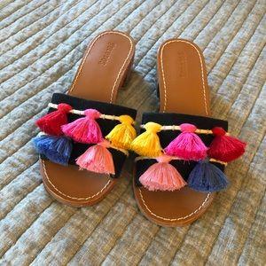 Soludos Pom Pom Slide Sandals - worn once!